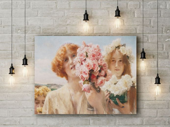 Lawrence Alma-Tadema: Summer Offering. Fine Art Canvas.